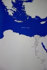 Τα τοπωνύμια που αναφέρονται στον ταφικό ναό του Αμενχοτέπ Γ΄ και μια πιθανή διαδρομή που τα συνδέει.